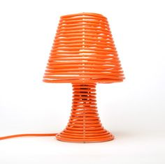 Coiled extension cord lamp kit.