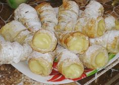 Dessert Recipes, Desserts, Biscotti, Sushi, Dairy, Sweets, Cheese, Healthy, Ethnic Recipes