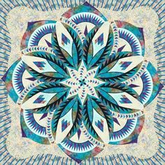 Maybe too intricate, but another idea for a center piece Star Quilt Patterns, Paper Piecing Patterns, Star Quilts, Quilt Blocks, Kaleidoscope Quilt, Indian Quilt, Cute Quilts, Foundation Paper Piecing, Quilting Designs