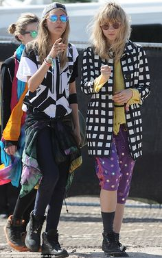Glastonbury 2013: Cara Delevingne leaves Glastonbury sporting a quirky cat mask | Mail Online