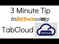 3 Minute Tech Tip: Tab Cloud - YouTube