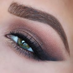 brows are @anastasiabeverlyhills brow wiz and dip brow in soft brown. eyes are @toofaced chocolate bar palette with anastasia noir shadow. source