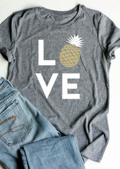 Love Pineapple Short Sleeve T-Shirt Free Shipping Worldwide!
