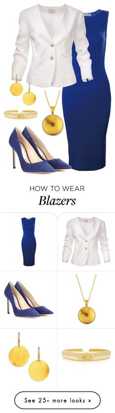 """Power Look"" by debatron on Polyvore featuring Gurhan, Jimmy Choo and Temple St. Clair"