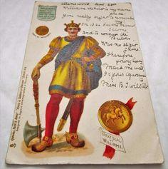 King William I - Antique Vintage 1902 Undivided Back Raphael Tuck Postcard King William, Postcards, Royalty, Baseball Cards, Antiques, Vintage, Design, Art, Royals