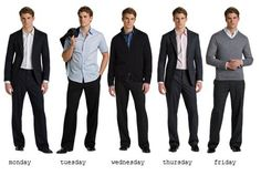 a week's outfit for men...