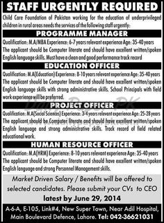Jobs in Child Care Foundation of Pakistan #Lahore For #jobs detail and how to apply: #paperpk http://www.dailypaperpk.com/jobs/213886/jobs-child-care-foundation-pakistan-lahore
