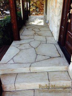 Quartz Coat Flagstone walkway.