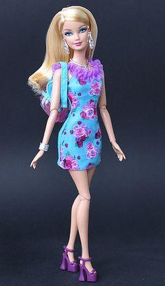 Fashionistas Barbie in her new dress..