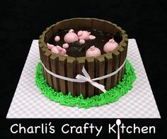Pigs in mud Cake!!  There's an awesome step by step tutorial on youtube...