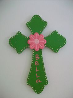 Personalized Wall Cross - Baptism or First Communion Gift