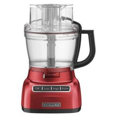 This is what I want for Christmas. Waiting for the black friday ads to find the best deal. :)  KitchenAid 13-Cup Food Processor - Empire Red