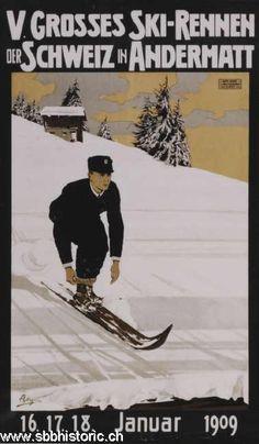 Andermatt Skirennen - 5. Grosses Ski-Rennen der Schweiz in Andermatt 16./17./18. Januar 1909