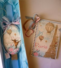 Irene & Nicki Crafts: Romantic Paris Easter Candle and NotebookHi ever...