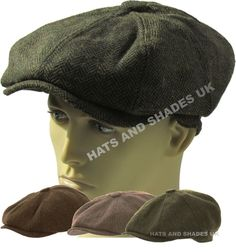 Peaky Blinders Newsboy Hat Gatsby Cap Flat Tweed herringbone 8 Panel Baker  Boy bd3164fa5018