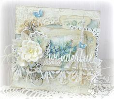 I used Mister Tom's Treasures and Pion Design Palette to make this new design. The front doors of the case open to reveal a pop-out accordion vintage camera that holds photos or tags. Vintage Cards, Vintage Paper, Card Creator, Mixed Media Cards, Romantic Cards, Shabby Chic Cards, Beautiful Handmade Cards, Card Maker, Card Tags