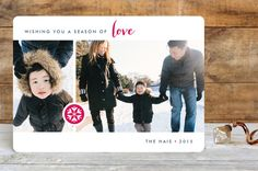 Season of Love Holiday Photo Cards by Three Kisses... | Minted