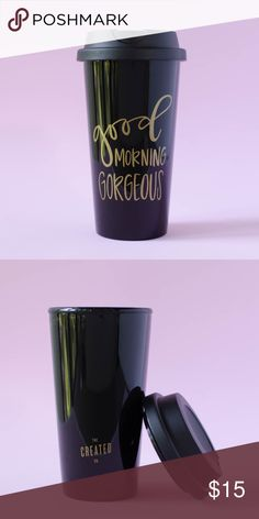 Good Morning Gorgeous Tumbler Brand new from The Created Co. No tag but comes with instructions and implied as new. Not actual brand. Single wall polypropylene with threaded lid                                                                           • accepting offers • will bundle • ask questions • venmo kate spade Accessories