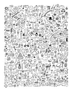 Doodlies  Giclee Print