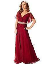 30s Style Blue Chiffon Elegant Gown-Bridesmaid Dress-Classy Prom Dresses