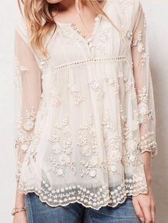 The neckline and sleeves are just perfect. And the lace detail is lovely.