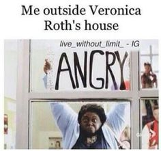 I'm coming Veronica Roth. I'm coming. Divergent Memes, Divergent Hunger Games, Divergent Fandom, Divergent Trilogy, Divergent Insurgent Allegiant, Veronica Roth, The Fault In Our Stars, Book Fandoms, Book Series