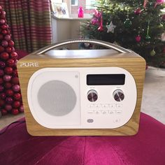I'm definitely getting old...loving the radio Babs n Rog bought me for Christmas #pureradio Xxx