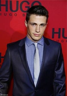 Colton Haynes looks great in this suit!