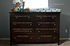 how to organize your baby's dresser
