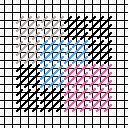 overlapping squares needlepoint diagram