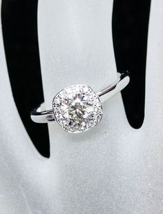 THIS IS IT!!!! This is it this is it!!!!!!!' Cushion cut diamond set on a solid white gold or silve band!!!! This is it :) #dying #breathless