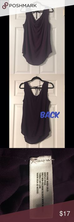GAP Cowl-neck Tie-back Sleeveless Top This plum blouse has been one of my wear-to-work favorites but unfortunately doesn't fit me anymore. Very comfortable, EUC. GAP Tops Blouses
