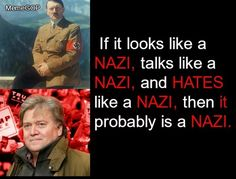 Steve Bannon - Call it like it is Nazi, White Supremacy ~ Not Alt-Right!! Renaming something does not CHANGE IT!!!