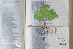 Roots Run Deep~ Proverbs 12:3 Bible Journaling   Just a Lovely Day