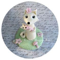 WOODLAND BABY SHOWER FOX BABY SHOWER GIRL FOX BOY FOX MAMA FOX CAKE TOPPER FONDANT CAKE TOPPER