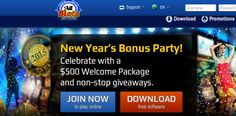 Start the #NewYear with a $500 #Welcome_Package & many surprise giveaways with #New_Year_Bonus_Party at #AllSlotsCasino