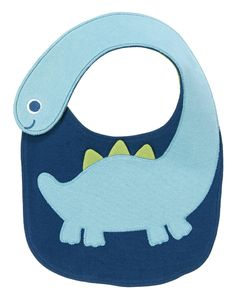 Baby Green Dinosaurs Fun Dinosaur Bib by Gymboree. When it comes to mealtime our Dino friend is here to keep things clean. Long dino neck is also a strap, with a touch close fastener. Baby Sewing Projects, Sewing For Kids, Sewing Crafts, Quilt Baby, Baby Bibs Patterns, Sewing Patterns, Bib Pattern, Baby Kind, Baby Crafts