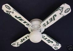 """Nfl  York Jets Football Ceiling Fan 42"""" - his choice"""