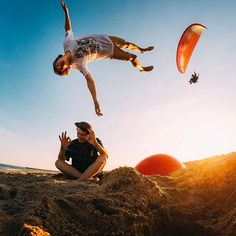 Photo of the Day: @marti.camps._tricks and company taking beach days to new heights. • • • #GoProES #getoutside # Action Photography, Adventure Photography, Gopro Shop, Birthday Cards For Brother, Summer Photos, Beach Pictures, Get Outside, Beach Day, Around The Worlds
