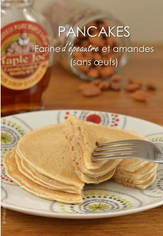 Pancakes à la farine d'épeautre et amandes Breakfast Snacks, Breakfast Recipes, Brunch Recipes, Vegan Recipes, Paleo Vegan, Sem Lactose, Base, Culinary Arts, Fruit Smoothies
