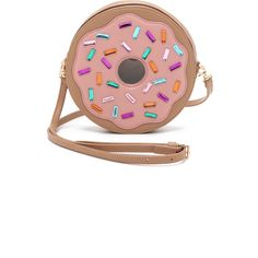 Patricia Chang Donut Cross Body Bag (20.945 RUB) ❤ liked on Polyvore featuring bags, handbags, shoulder bags, bolsas, pink, pink multi, leather crossbody purses, crossbody purse, white leather purse and crossbody shoulder bags