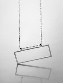 Sterling Silver Rectangle Necklace - Juliet Jewelry