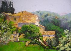 Tuscan Village Painting Greeting Cards from $4.95 Canvas Prints from $65 from my Fine Art America website