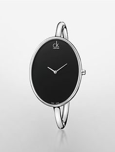 sartorially stainless steel black dial bangle watch