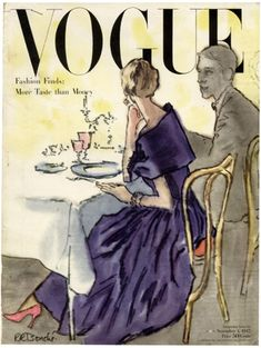 ... Illustrated VOGUE covers....
