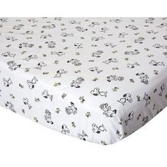 *Snoopy baby bedding (in a black and white nursery!)