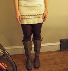 super easy sweater skirt