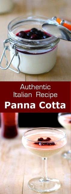 Panna cotta is a traditional Italian dessert, composed of silky flavored cream, . - Panna cotta is a traditional Italian dessert, composed of silky flavored cream, set with gelatin an - Easy Desserts, Delicious Desserts, Dessert Recipes, Yummy Food, Quick Dessert, Dessert Healthy, Picnic Recipes, Cake Recipes, Wie Macht Man