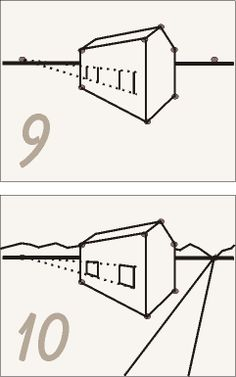 How To Draw A 3d House 2 Point Perspective Kuns