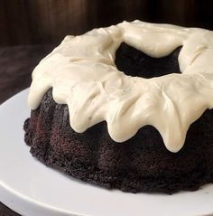 Chocolate Zucchini Cake with Cream Cheese Glaze -have a zucchini surplus? Here's at least one scrumptious recipe that won't have anyone complaining about zucchini overload.